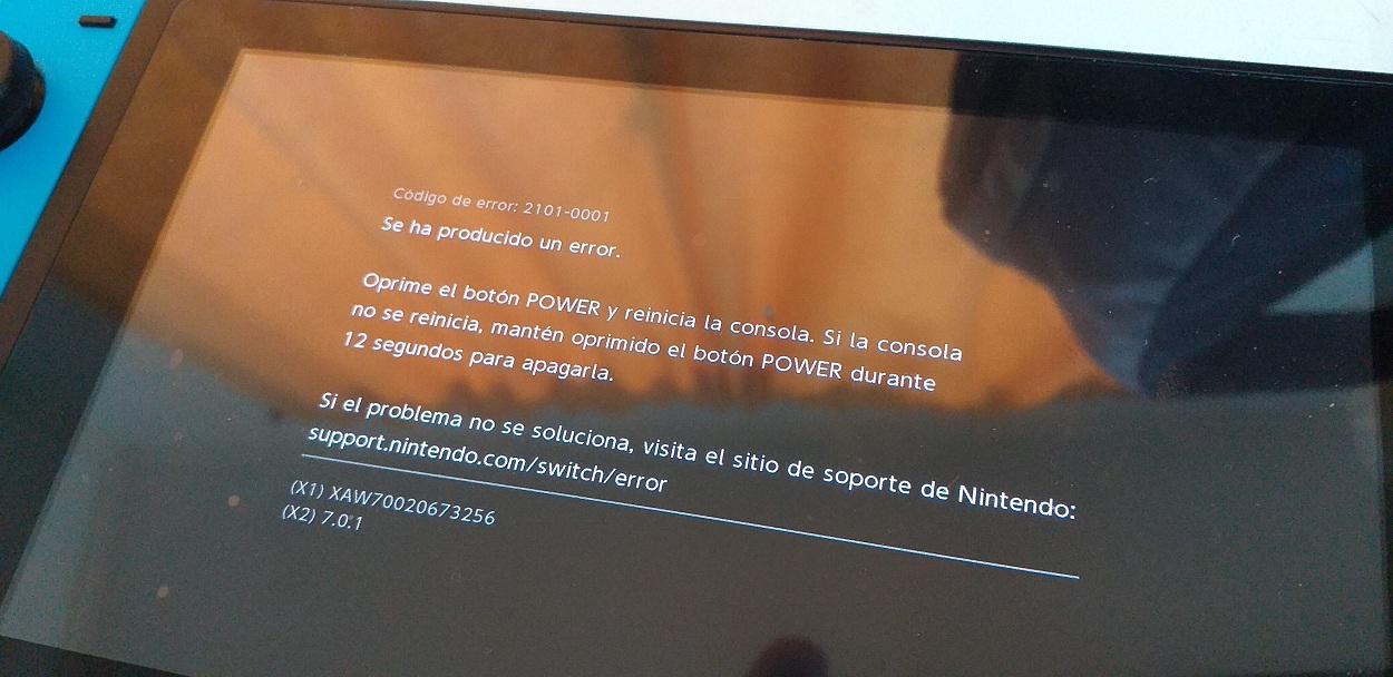 Falla Nintendo Switch Error 2101-0001 (dock) - gamer